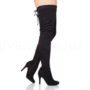 NY&C OverThe Knee Stretch Tie Boot